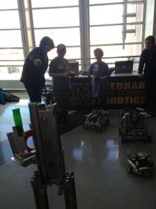 We also got to show our robot to some kids, and let them drive it!